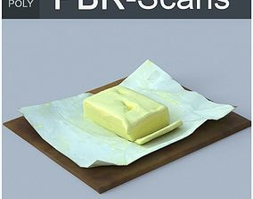 3D asset Butter Low Poly