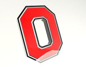 The Ohio State University Logo 3D