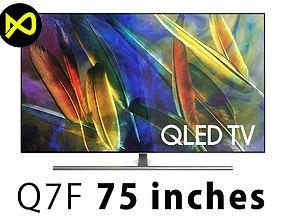 3D model Samsung QLED Q7F 75 Inch 4K TV