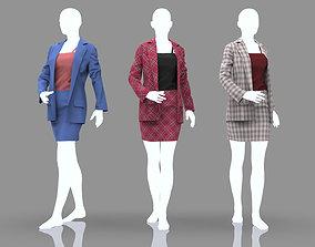 Women Elegant Office Suits - Marvelous Designer Cloth 3D