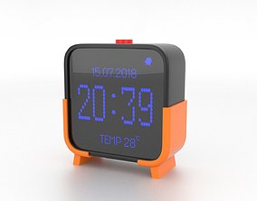 3D model Digital clock H-100