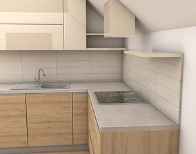 modern kitchen design 3D model vray