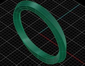 3D printable model mobius ring