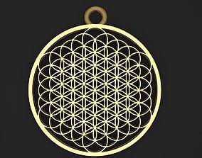 Flower of life pendant 1 3D print model