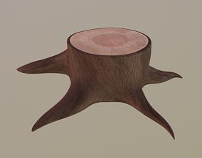 saw 3D asset realtime Tree Stump