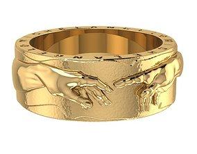 Michelangelo Creation Ring 3D print model