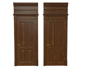 Classic wooden door 04 3D model