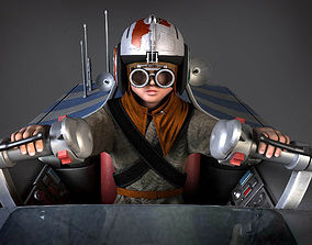Star Wars Pod Racer with Anakin 3D model