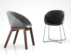 Coquille dining armchair by Domitalia 3D