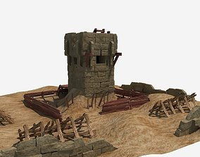 Desert Guard Tower 3D