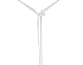 Wind Turbine 3D Model electric