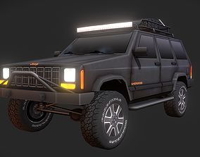 3D model rigged Jeep Cherokee Offroad Build