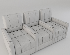 3D model Contemporary Home Theatre Lounger