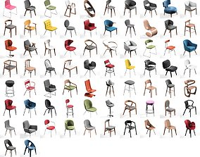 Chair Mega Pack collection 72 3D