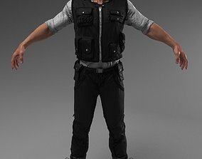 Security Guard Agent Policeman 3D model