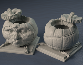 Halloween Pumpkin Covid-19 Nightmare 3D printable model 2