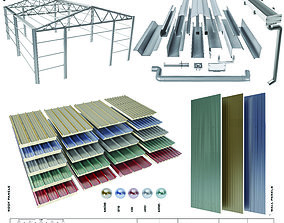 sloped roof-sandwich panel 3D model