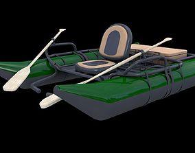 3D model River Fishing Pontoon