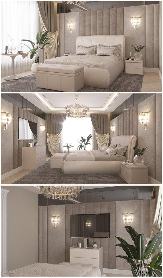 Bedroom in Art Deco style