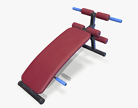 3D asset Abs Bench lowpoly