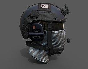 Helmet scifi military combat soldier ver 2 3D model