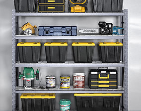garage tools set 12 3D