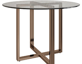 realtime SILVERADO BRASS 47 ROUND DINING TABLE 3d model