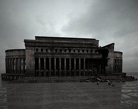 destroyed building 107 am165 3D