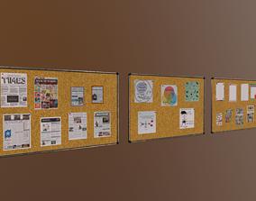 News board 3D model realtime