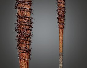 game-ready Barbed Wire Bat - PAM - PBR Game Ready 2