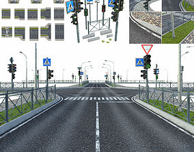 3D model Road sections