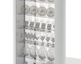 Plexiglass And White Shelf 3D