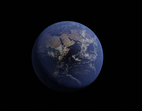 Earth 3d model asia
