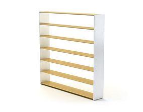 3D model Shelf White Wooden