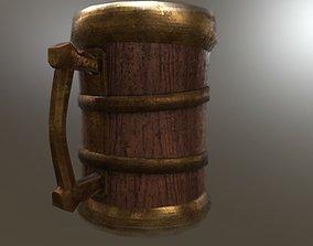 Stylized Old beer mug 3D asset