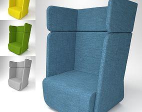 3D model Soft Line Basket Armchair Blender Cycles