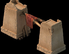 Desert ancient battlefield - fence vendor 3D model