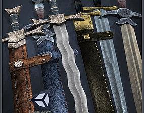 One-Handed Medieval Swords 3D asset