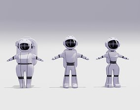 3D asset Astronauts Low-Poly