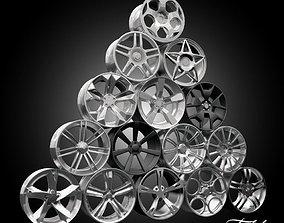 Car rims collection 1 3D