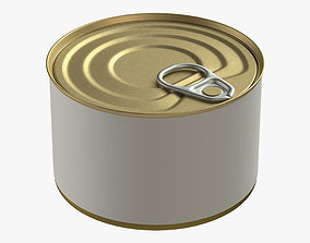 3D canned food round tin metal aluminium can 08