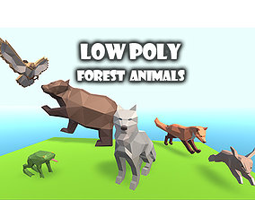 3D model animated Low Poly Forest Animals