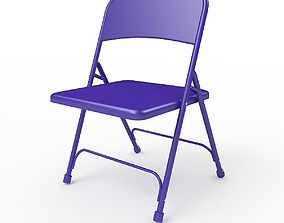3D Metal Folding Chair the