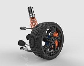 Suspension car wheel 3D model