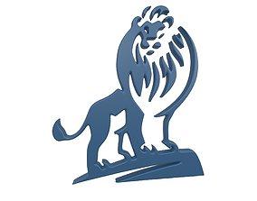 3D model Lion Emblem v1 004