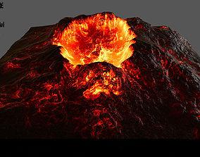 3D model volcano Volcano