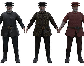 3D model Medieval Old man