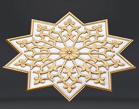 oriental carving Khorezmian style 3D model
