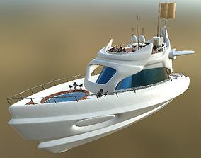 Yacht 01 PBR 3D asset