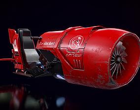 3D asset Hoverbike - The Rocket